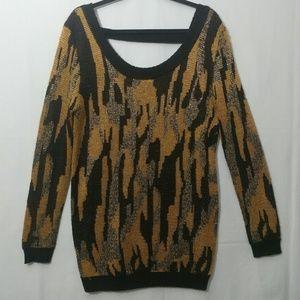 Black & Gold Lovemarks Tunic Sweater